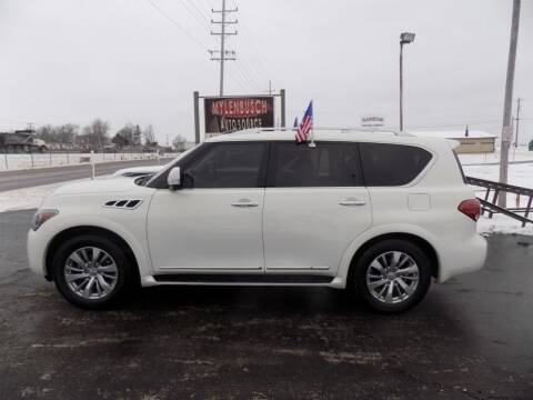 2012 Infiniti QX56 for sale at MYLENBUSCH AUTO SOURCE in O` Fallon MO