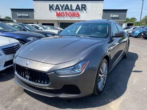 2015 Maserati Ghibli for sale at KAYALAR MOTORS in Houston TX
