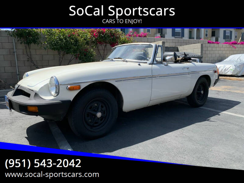 1979 MG MGB for sale at SoCal Sportscars in Covina CA
