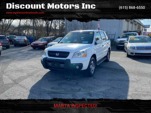 2004 Honda Pilot for sale at Discount Motors Inc in Madison TN
