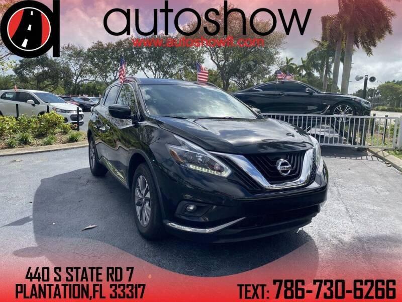 2018 Nissan Murano for sale at AUTOSHOW SALES & SERVICE in Plantation FL