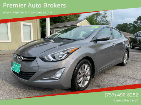 2014 Hyundai Elantra for sale at Premier Auto Brokers in Virginia Beach VA