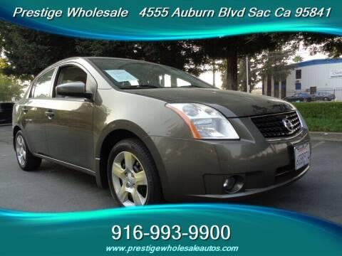 2008 Nissan Sentra for sale at Prestige Wholesale in Sacramento CA