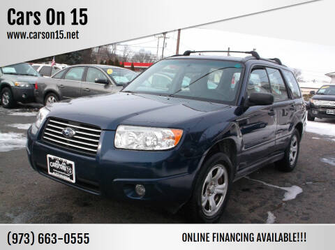 2006 Subaru Forester for sale at Cars On 15 in Lake Hopatcong NJ