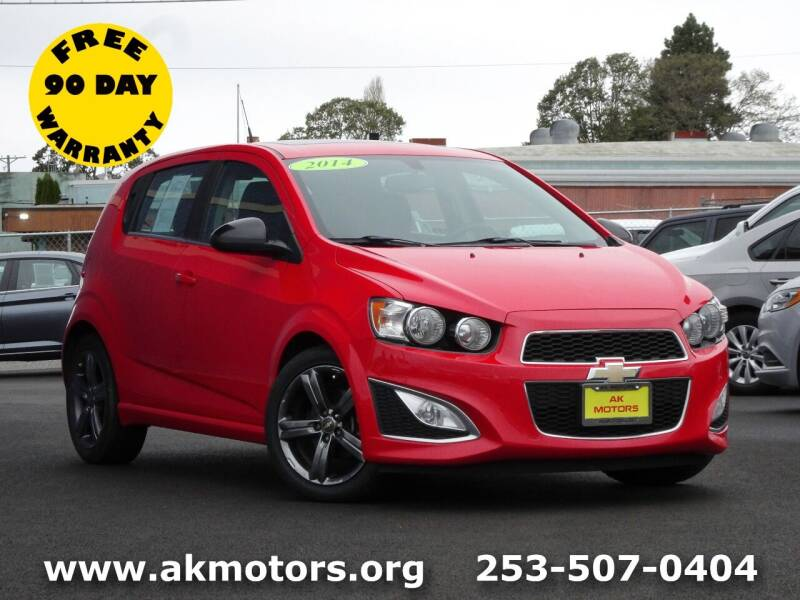 2014 Chevrolet Sonic for sale at AK Motors in Tacoma WA