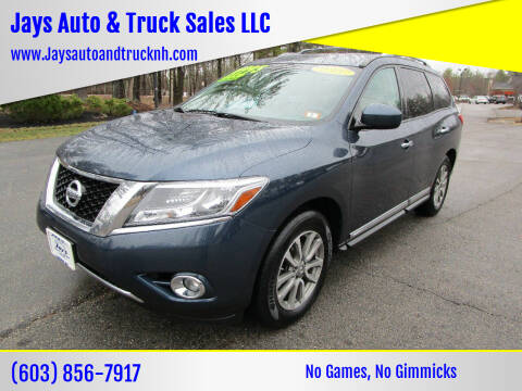 2015 Nissan Pathfinder for sale at Jays Auto & Truck Sales LLC in Loudon NH