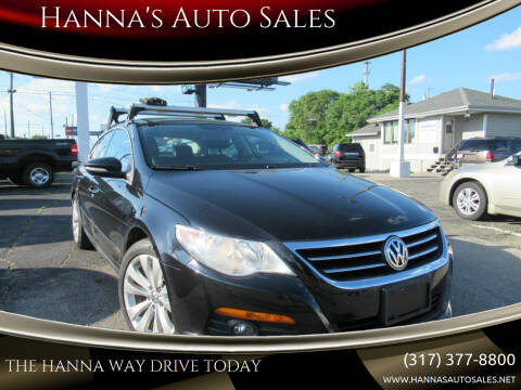 2009 Volkswagen CC for sale at Hanna's Auto Sales in Indianapolis IN