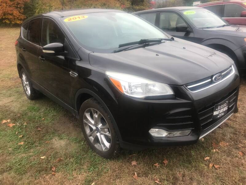 2013 Ford Escape for sale at Wright's Auto Sales LLC in Townshend VT