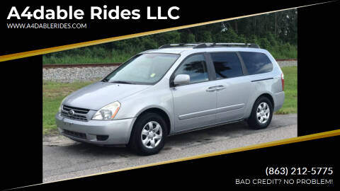 2007 Kia Sedona for sale at A4dable Rides LLC in Haines City FL