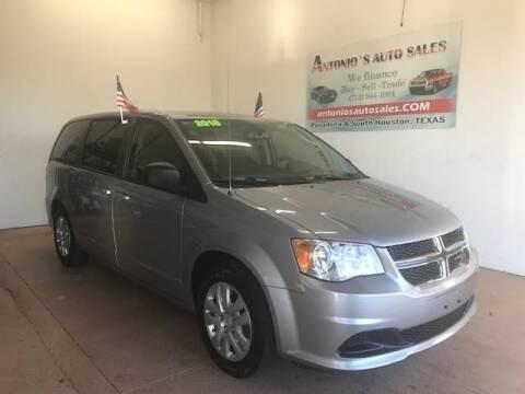 2018 Dodge Grand Caravan for sale at Antonio's Auto Sales in South Houston TX