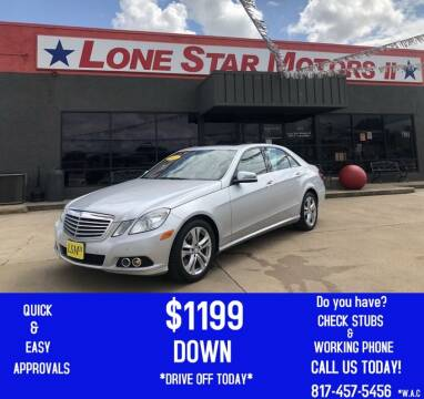 2012 Mercedes-Benz E-Class for sale at LONE STAR MOTORS II in Fort Worth TX