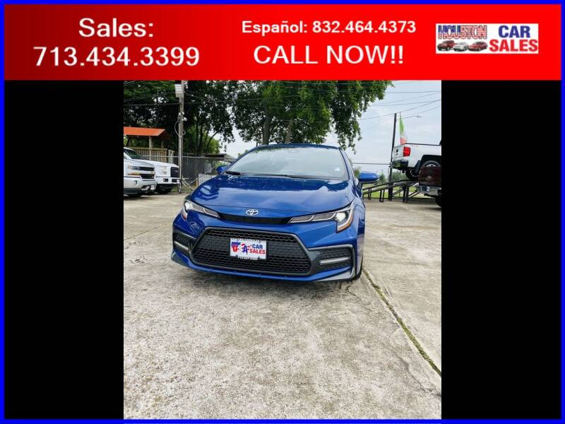 2020 Toyota Corolla for sale at HOUSTON CAR SALES INC in Houston TX