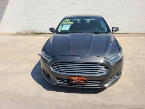 2016 Ford Fusion for sale at Preferable Auto LLC in Houston TX