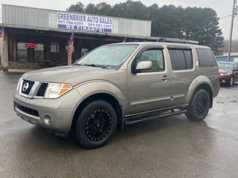 2006 Nissan Pathfinder for sale at Greenbrier Auto Sales in Greenbrier AR