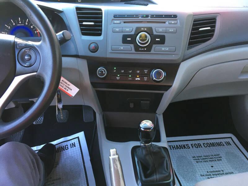 2012 Honda Civic LX 4dr Sedan 5M - Douglasville GA