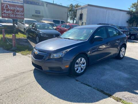 2013 Chevrolet Cruze for sale at DAVINA AUTO SALES in Casselberry FL