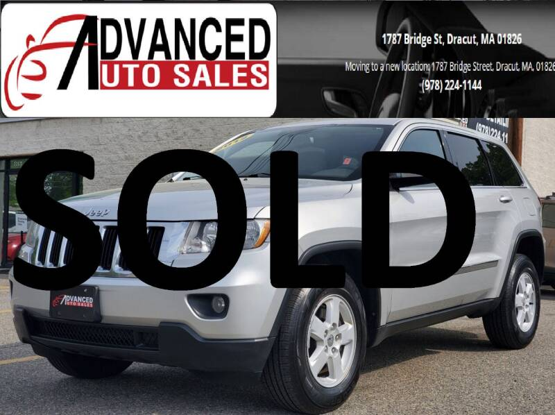 2012 Jeep Grand Cherokee for sale at Advanced Auto Sales in Dracut MA