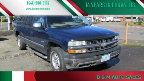 2002 Chevrolet Silverado 1500 for sale at D & M Auto Sales in Corvallis OR
