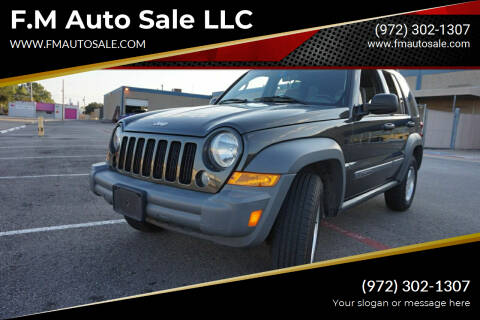 2005 Jeep Liberty for sale at F.M Auto Sale LLC in Dallas TX