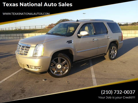2012 Cadillac Escalade for sale at Texas National Auto Sales in San Antonio TX