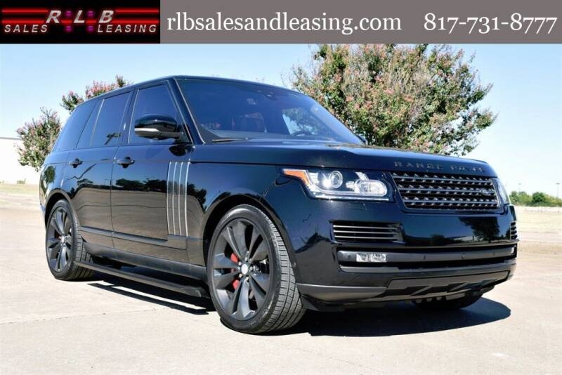 2017 Land Rover Range Rover for sale at RLB Sales and Leasing in Fort Worth TX