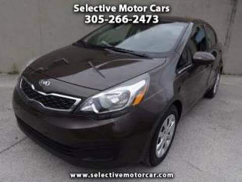 2013 Kia Rio for sale at Selective Motor Cars in Miami FL