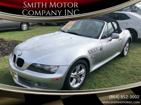 2001 BMW Z3 for sale at Smith Motor Company INC in Mc Cormick SC