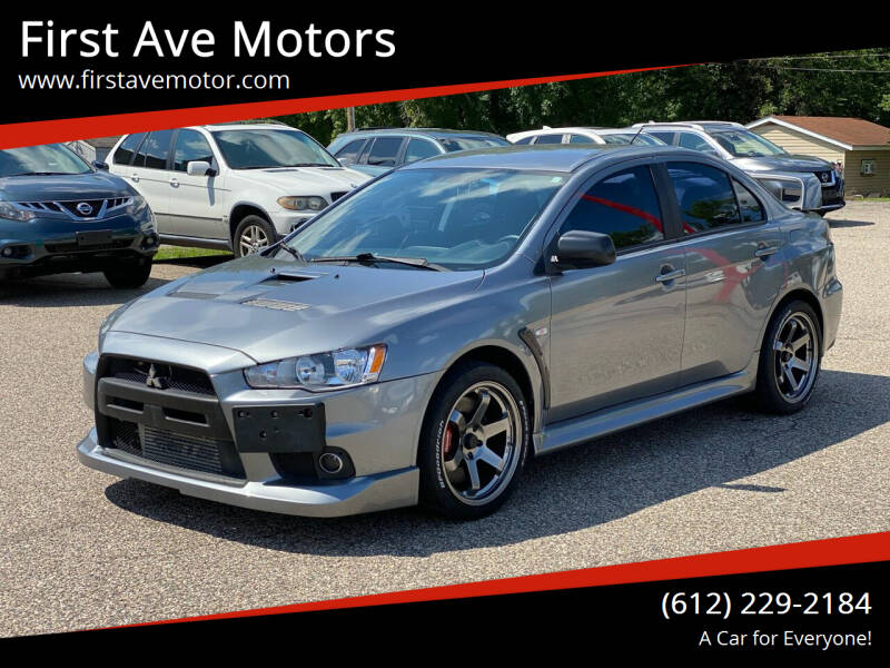 2012 Mitsubishi Lancer Evolution for sale at First Ave Motors in Shakopee MN