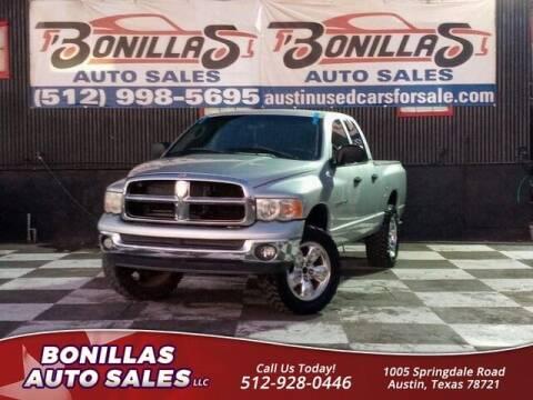 2002 Dodge Ram Pickup 1500 for sale at Bonillas Auto Sales in Austin TX