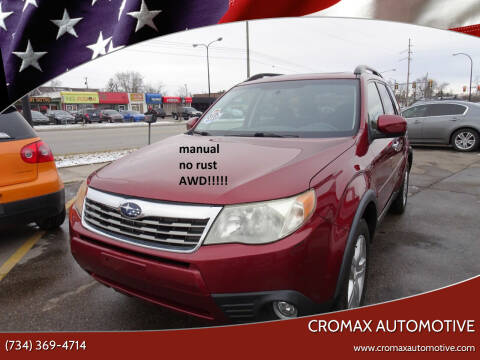 2009 Subaru Forester for sale at Cromax Automotive in Ann Arbor MI