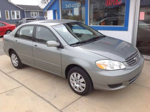 2003 Toyota Corolla for sale at Sindic Motors in Waukesha WI