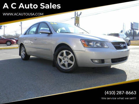 2006 Hyundai Sonata for sale at A C Auto Sales in Elkton MD