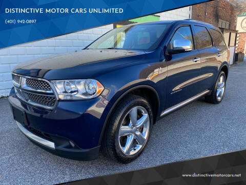 2012 Dodge Durango for sale at DISTINCTIVE MOTOR CARS UNLIMITED in Johnston RI
