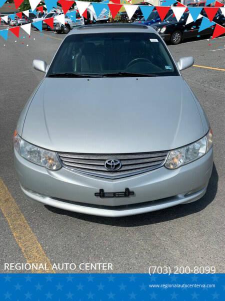 2002 Toyota Camry Solara for sale at REGIONAL AUTO CENTER in Stafford VA