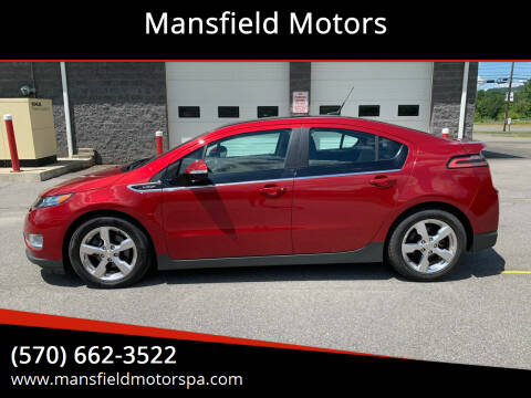 2011 Chevrolet Volt for sale at Mansfield Motors in Mansfield PA