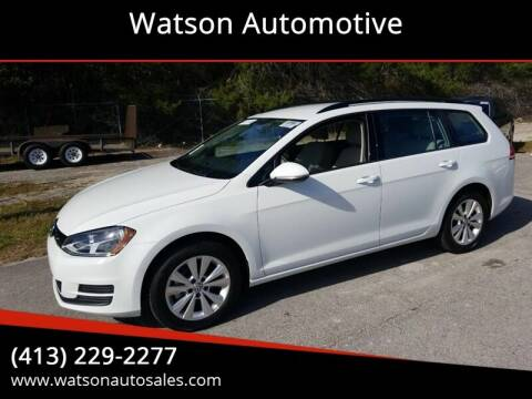 2017 Volkswagen Golf SportWagen for sale at Watson Automotive in Sheffield MA