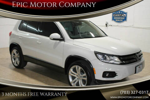 2012 Volkswagen Tiguan for sale at Epic Motor Company in Chantilly VA