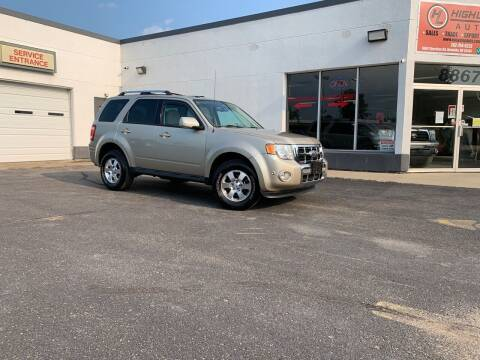 2012 Ford Escape for sale at HIGHLINE AUTO LLC in Kenosha WI