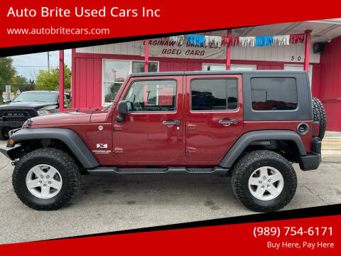 2008 Jeep Wrangler Unlimited for sale at Auto Brite Used Cars Inc in Saginaw MI