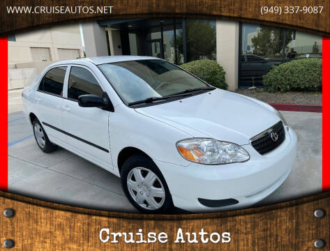 2008 Toyota Corolla for sale at Cruise Autos in Corona CA