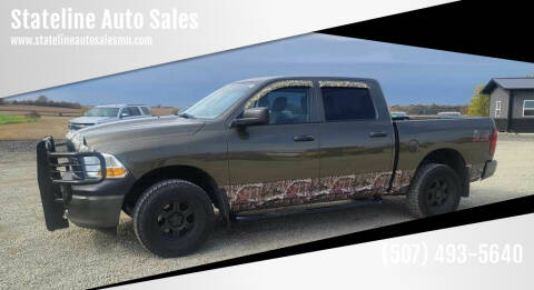 2012 RAM Ram Pickup 1500 for sale at Stateline Auto Sales in Mabel MN