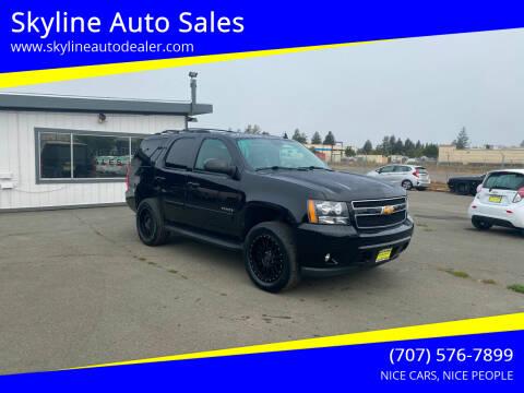 2012 Chevrolet Tahoe for sale at Skyline Auto Sales in Santa Rosa CA