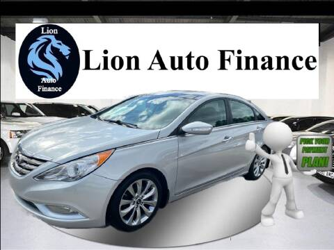 2013 Hyundai Sonata for sale at Lion Auto Finance in Houston TX