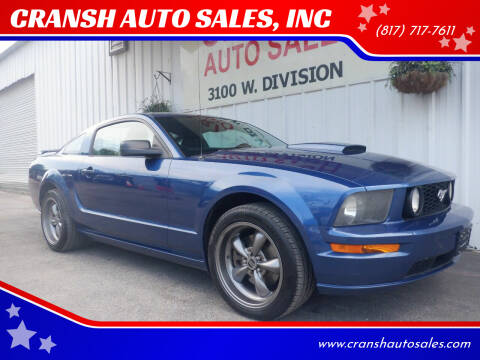 2007 Ford Mustang for sale at CRANSH AUTO SALES, INC in Arlington TX