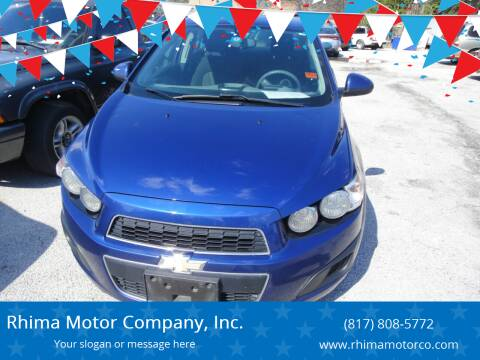 2014 Chevrolet Sonic for sale at Rhima Motor Company, Inc. in Haltom City TX