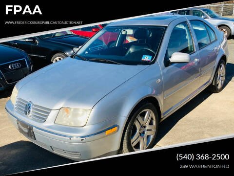 2004 Volkswagen Jetta for sale at FPAA in Fredericksburg VA