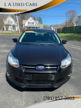 2012 Ford Focus for sale at L A Used Cars in Abington MA
