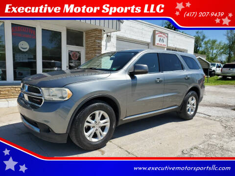 2013 Dodge Durango for sale at Executive Motor Sports LLC in Sparta MO
