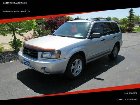 2003 Subaru Forester for sale at MAIN STREET AUTO SALES in Neenah WI