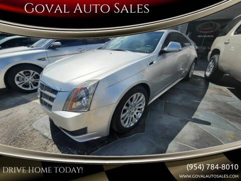 2011 Cadillac CTS for sale at Goval Auto Sales in Pompano Beach FL